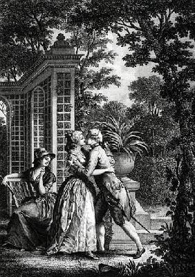 The First Kiss of Love, illustration from ''La Nouvelle Heloise'' by Jean-Jacques Rousseau (1712-78)