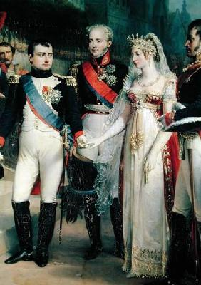 Napoleon Bonaparte (1769-1821) Receiving Queen Louisa of Prussia (1776-1810) at Tilsit, 6th July 180
