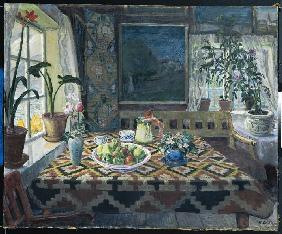 Astrup, Nikolai : Living room in Sandalstran...