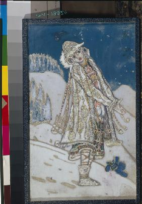 Costume design for the theatre play Snow Maiden by A. Ostrovsky