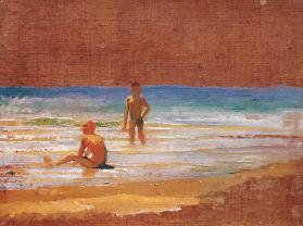 Boys on the seashore
