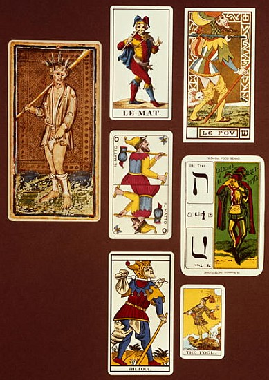 0 The Fool, Seven Tarot Cards From Diffe