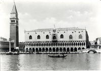 View of Palazzo Ducale and the Campanile of S. Marco (b/w photo)