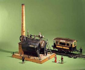 31:Bing stationary steam engine, c.1902; Carette street car, c.1904