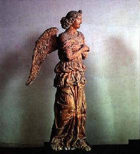 Angel from an Annunciation scene, statue by the School of Mantua (terracotta)