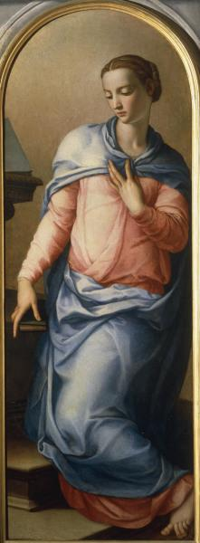 A.Bronzino / Mary of Annunciation  / C16