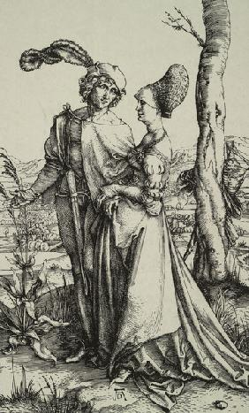A.Dürer / Nobleman and lady.. / c.1496
