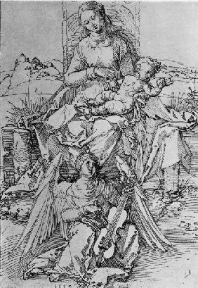 A.Dürer, Madonna & Child on Grassy Bench