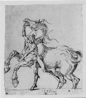 A.Dürer, Nude Man with Horse / 1525