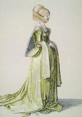 A.Dürer, Nuremberg Woman in Dance Dress
