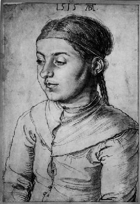 A.Dürer, Port.of a Young Girl / 1515