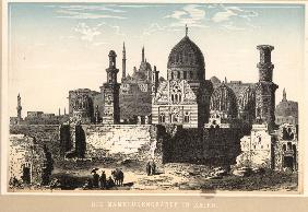 Cairo, Tombs of Mamelukes / Col.Woodcut