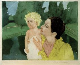 Cassatt / Woman Playing with a Child