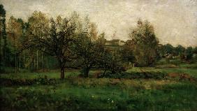 C.F.Daubigny, Orchard in autumn
