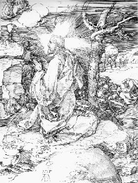 Christ on Mt. of Olives / Dürer / 1515