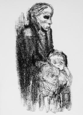 Drawing of Mother with Children