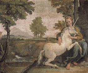 Domenichino / Maiden and Unicorn / 1602