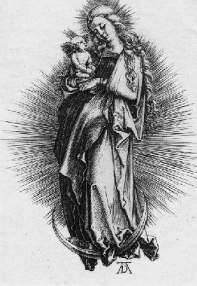 Dürer, Madonna on the Crescent / Engr.
