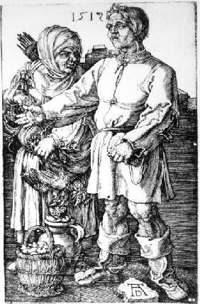 Dürer, Peasants at the Market/Engr./1519