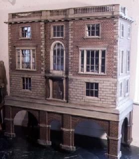 English balustraded doll's house with balcony, c.1775