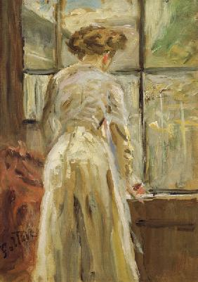 Fritz von Uhde, Woman at the Window