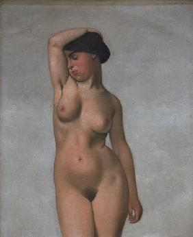 F.Vallotton/ Female nude with raised arm