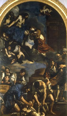 Guercino / Burial of St. Petronilla