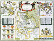 Huntington, engraved by Jodocus Hondius (1563-1612) from John Speed's 'Theatre of the Empire of Grea