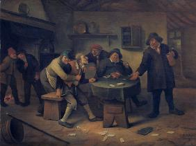 J.Steen / Peasants arguing in an inn