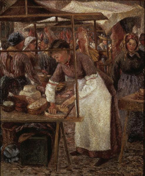 Pissarro / The Butcher Lady / 1883 - Camille Pissarro as art