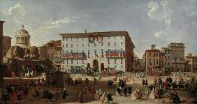 Rome / Piazza di Spagna / Painting