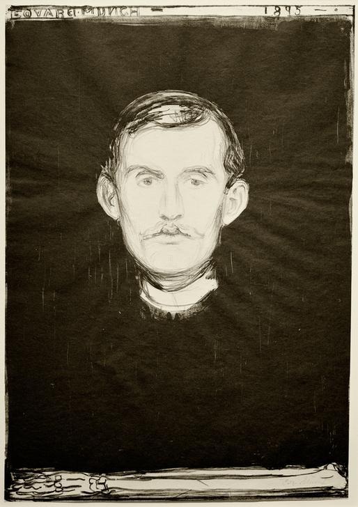 Selfportrait Edvard Munch