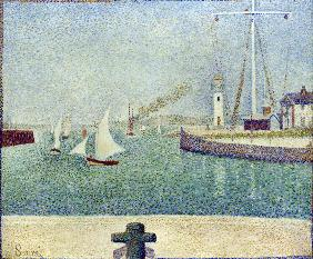 Seurat / Harbour entrance / 1888