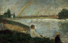 Seurat / The Rainbow / Painting / c.1883