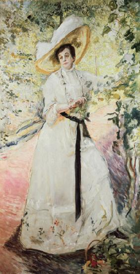 Slevogt / Nini under grape trellis, 1911