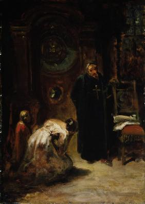 Spitzweg / Confession / Painting, c.1875