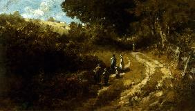 Spitzweg / Going to Church / Painting