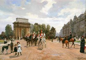 The Life Guards Passing Hyde Park Corner, London