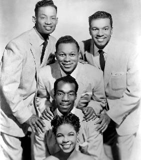 The Platters : bottom-top : Zola Taylor, Herb Reed, Tony Williams