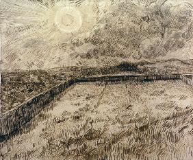 V.van Gogh, Sun above Field /Draw./1889
