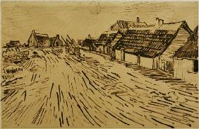 V.v.Gogh, Cottages, Saintes-Marie /Draw.