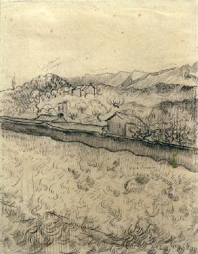 V.V.Gogh, Enclosed Field / Drawing /1890