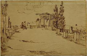 V.v.Gogh, Langlois Bridge /Drawing/ 1888