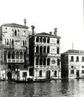 View of (LtoR) Palazzo Barbaro and Palazzo Dario (b/w photo)