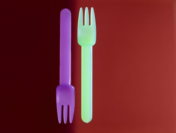 Two Forks (Rothko) 2002 (colour photo)