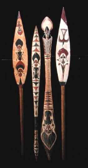 Canoe paddles from the Solomon Islands