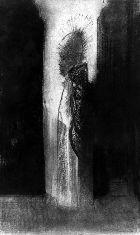 The Apparition - Odilon Redon as art print or hand painted ...