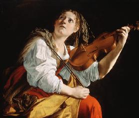 Young Woman with a Violin