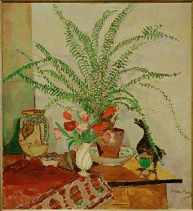Still life with leaf plant
