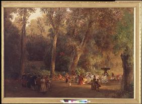Achenbach, Oswald : In the Park of Villa Torlo...
